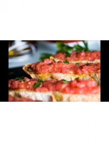 Tostada de queso con tomate...